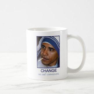 Cambíenos no puede incluso creer taza de café