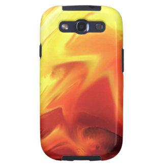 cambio abstracto del fuego del expresionista galaxy s3 fundas