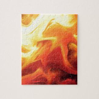 cambio abstracto del fuego del expresionista puzzles con fotos