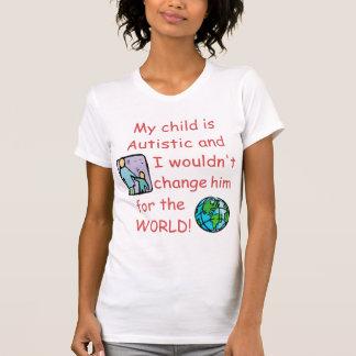 Cambio autístico de Child/Do no para el mundo Camisetas