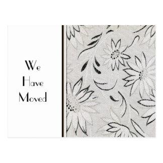 Cambio blanco y negro elegante de plantilla de la postal