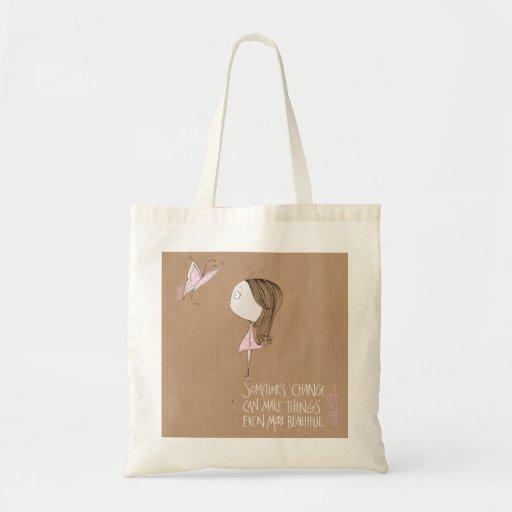 """""""Cambio"""" - bolso del chica y de la mariposa Bolsa"""