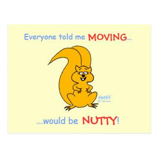 Cambio chistoso del dibujo animado de tarjeta de tarjeta postal