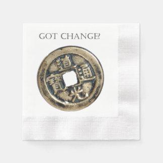 ¿Cambio conseguido? Moneda china antigua Servilletas Desechables