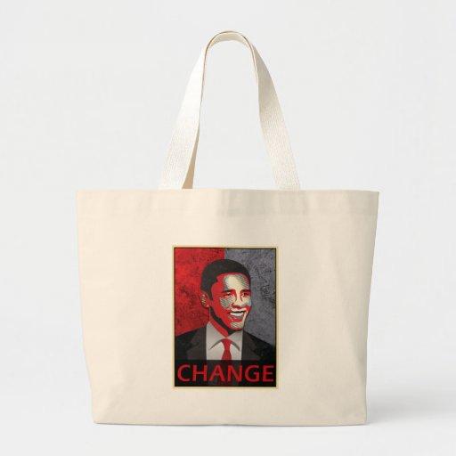 Cambio de Barack Obama Bolsa Tela Grande