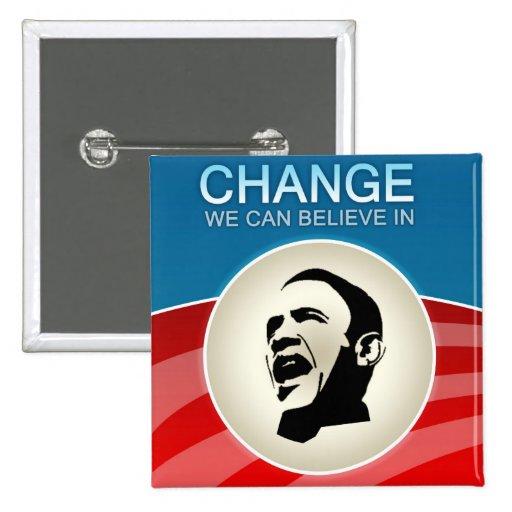Cambio de Barack Obama que podemos creer adentro Pins