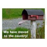 Cambio de buzón rural del país de la dirección tarjeta de felicitación