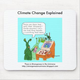 Cambio de clima explicado alfombrilla de ratón