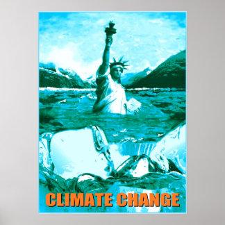 Cambio de clima - impresión ambiental del poster