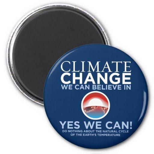 Cambio de clima - podemos sí imán de la parodia de