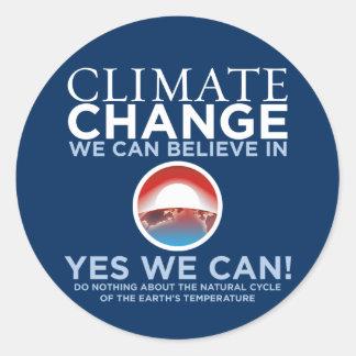 Cambio de clima - podemos sí los pegatinas de la etiqueta redonda