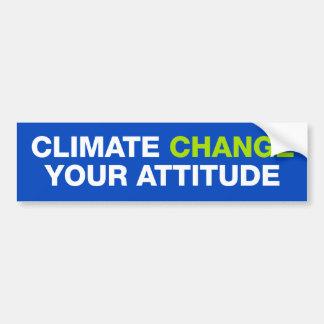 Cambio de clima su pegatina para el parachoques de pegatina para auto