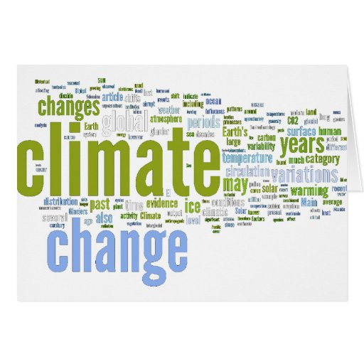 cambio de clima uno tarjeta de felicitación