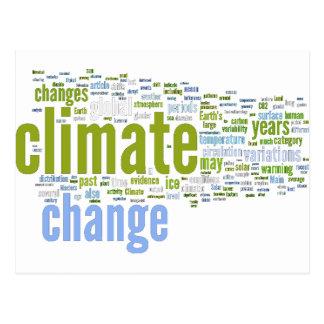 cambio de clima uno tarjeta postal