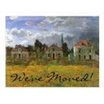 Cambio de dirección; Casas en Argenteuil de Monet Postal