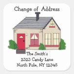 Cambio de dirección casero acogedor etiqueta