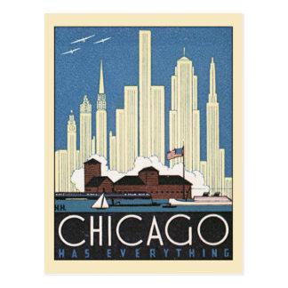 Cambio de dirección, ciudad del vintage, Chicago,  Tarjeta Postal