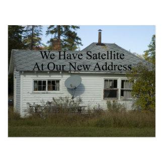 Cambio de dirección divertido - tenemos satélite postal