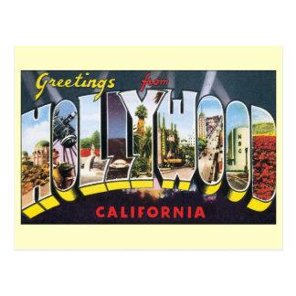 Cambio de dirección, Hollywood California del vint Postales