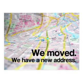 Cambio de dirección (mapa contemporáneo) postal
