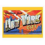 Cambio de dirección, New York City NYC del vintage Tarjeta Postal