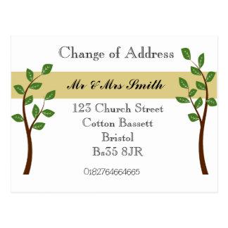Cambio de dirección postales