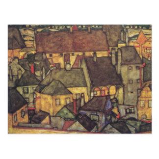 Cambio de dirección - Schiele CIty amarilla, 1914 Tarjetas Postales