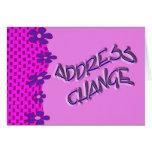 Cambio de dirección tarjeta
