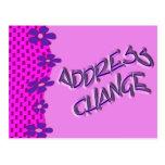 Cambio de dirección tarjeta postal