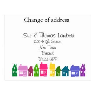 Cambio de dirección tarjetas postales
