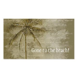 Cambio de dirección tropical tarjetas de visita