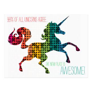 Cambio de encargo del unicornio del arco iris de postales