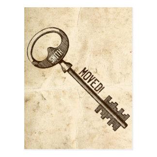 Cambio de la llave de la antigüedad del pergamino postal