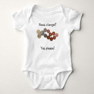 Cambio de la necesidad - chaleco del bebé playeras