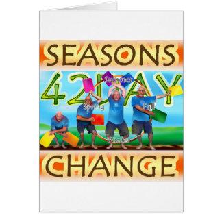 Cambio de las estaciones tarjeta de felicitación