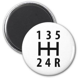 cambio de marcha auto 5 del coche imán redondo 5 cm