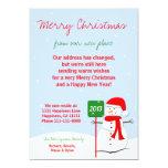 Cambio de muñeco de nieve plano de la tarjeta del invitación 12,7 x 17,8 cm