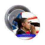 Cambio de Obama Pin