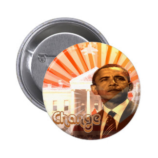 Cambio de Obama Pin Redondo De 2 Pulgadas