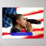 Cambio de Obama Posters