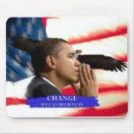 Cambio de Obama Tapete De Ratón