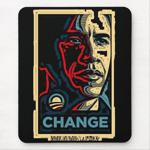 Cambio de Obama Tapetes De Ratón