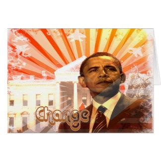 Cambio de Obama Tarjeta De Felicitación
