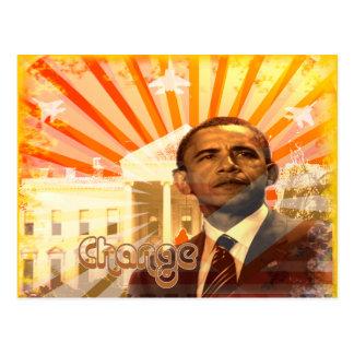 Cambio de Obama Tarjeta Postal