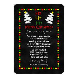 Cambio de pizarra plana de la tarjeta del navidad anuncio
