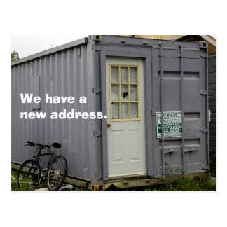 Cambio de postal de la dirección: Hogar verdadero