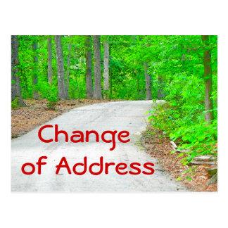 Cambio de postal de la dirección