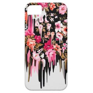 Cambio de rumbo estampado de flores de fusión iPhone 5 protector