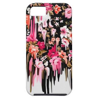 Cambio de rumbo, estampado de flores de fusión iPhone 5 funda
