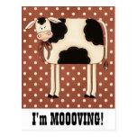 Cambio de señora Moving de la vaca del país de Postales
